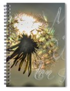 001 Make A Wish At Sunset With Text Spiral Notebook
