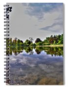 001 Reflecting At Forest Lawn Spiral Notebook