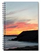 0010 Awe In One Sunset Series At Erie Basin Marina Spiral Notebook