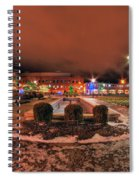 0010 Christmas Light Show At Roswell Series Spiral Notebook