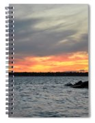 0011 Awe In One Sunset Series At Erie Basin Marina Spiral Notebook