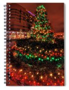 0011 Christmas Light Show At Roswell Series Spiral Notebook