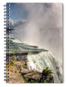 0011 Niagara Falls Misty Blue Series Spiral Notebook