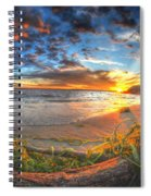 0014 Awe In One Sunset Series At Erie Basin Marina Spiral Notebook