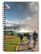0014 Niagara Falls Misty Blue Series Spiral Notebook
