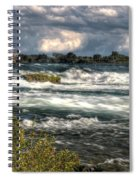 0015 Niagara Falls Misty Blue Series Spiral Notebook