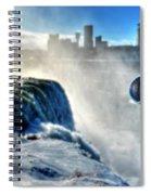 0016 Niagara Falls Winter Wonderland Series Spiral Notebook