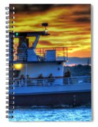 0017 Awe In One Sunset Series At Erie Basin Marina Spiral Notebook