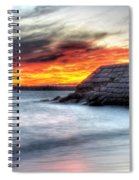 0018 Awe In One Sunset Series At Erie Basin Marina Spiral Notebook
