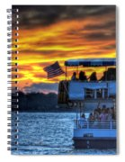 0019 Awe In One Sunset Series At Erie Basin Marina Spiral Notebook