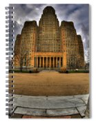 0019 City Hall From Within The Square Spiral Notebook