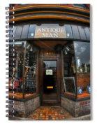 002 Antique Man Spiral Notebook