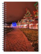 002 Christmas Light Show At Roswell Series Spiral Notebook