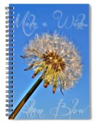 002 Make A Wish With Text Spiral Notebook
