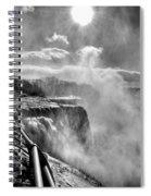 002a Niagara Falls Winter Wonderland Series Spiral Notebook