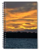 003 Awe In One Sunset Series At Erie Basin Marina Spiral Notebook