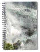 003 Niagara Falls Misty Blue Series Spiral Notebook