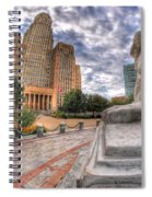 003 Sleeping Lions City Hall View  Spiral Notebook