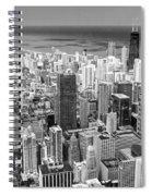 0036 Chicago Skyline Black And White Spiral Notebook