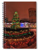 004 Christmas Light Show At Roswell Series Spiral Notebook