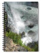 004 Niagara Falls Misty Blue Series Spiral Notebook