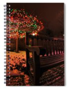005 Christmas Light Show At Roswell Series Spiral Notebook