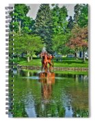005 Reflecting At Forest Lawn Spiral Notebook