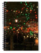 007 Christmas Light Show At Roswell Series Spiral Notebook