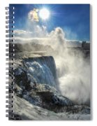 007 Niagara Falls Winter Wonderland Series Spiral Notebook