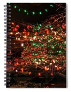 008 Christmas Light Show At Roswell Series Spiral Notebook