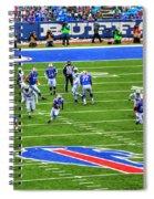 009 Buffalo Bills Vs Jets 30dec12 Spiral Notebook