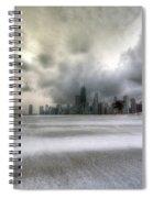 0242 Wintry Chicago Spiral Notebook