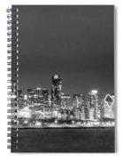 0248 Chicago Skyline Panoramic Spiral Notebook