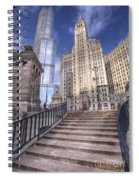 0499 Trump Tower And Wrigley Building Chicago Spiral Notebook