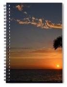 0502 Palms With Sunrise Colors On Santa Rosa Sound Spiral Notebook