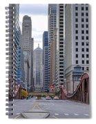 0525 Lasalle Street Bridge Chicago Spiral Notebook