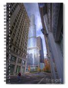 0527 Trump Tower From Wrigley Building Courtyard Chicago Spiral Notebook