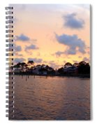 0530 Sunset Tree Silhouette Reflections Spiral Notebook