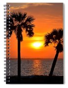 0602 Pair Of Palms At Sunrise Spiral Notebook