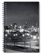 0647 Chicago Black And White Spiral Notebook
