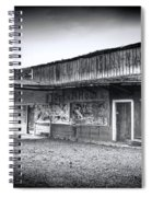 0706 Jerome Ghost Town Black And White Spiral Notebook