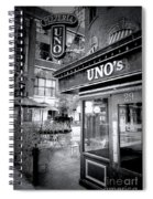 0748 Uno's Pizzaria Spiral Notebook