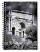 0791 The Arch Of Septimius Severus Black And White Spiral Notebook