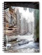 0938 Lasalle Falls - Starved Rock State Park Spiral Notebook