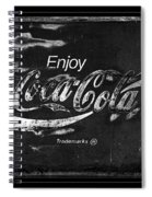 Coca Cola Sign Black And White Spiral Notebook