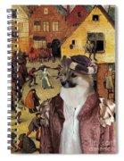Icelandic Sheepdog Art Canvas Print  Spiral Notebook