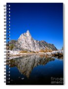Prusik Peak Reflects In Gnome Tarn Spiral Notebook