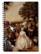 Welsh Springer Spaniel Art Canvas Print Spiral Notebook