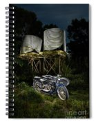 1924 Ace And Corrugated Water Tanks Spiral Notebook
