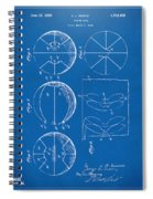 1929 Basketball Patent Artwork - Blueprint Spiral Notebook